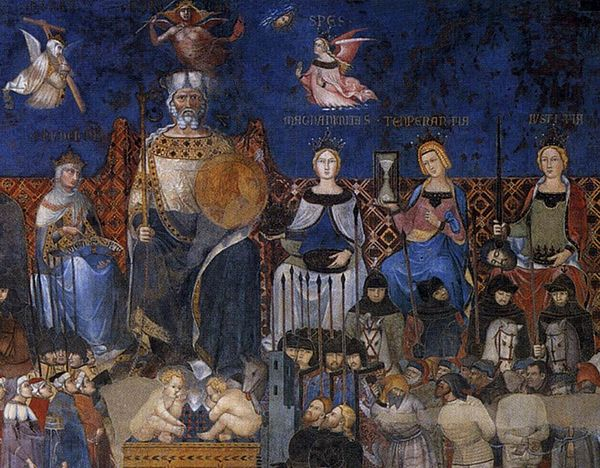 Ambrogio Lorenzetti - Allegory of the Good Government (detail) - WGA13487.jpg